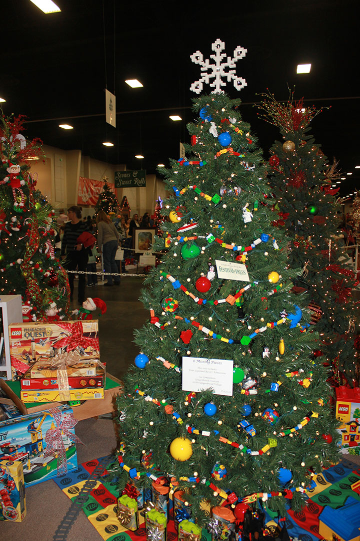 Tree with loads of fun lego decorations and toys for under the tree