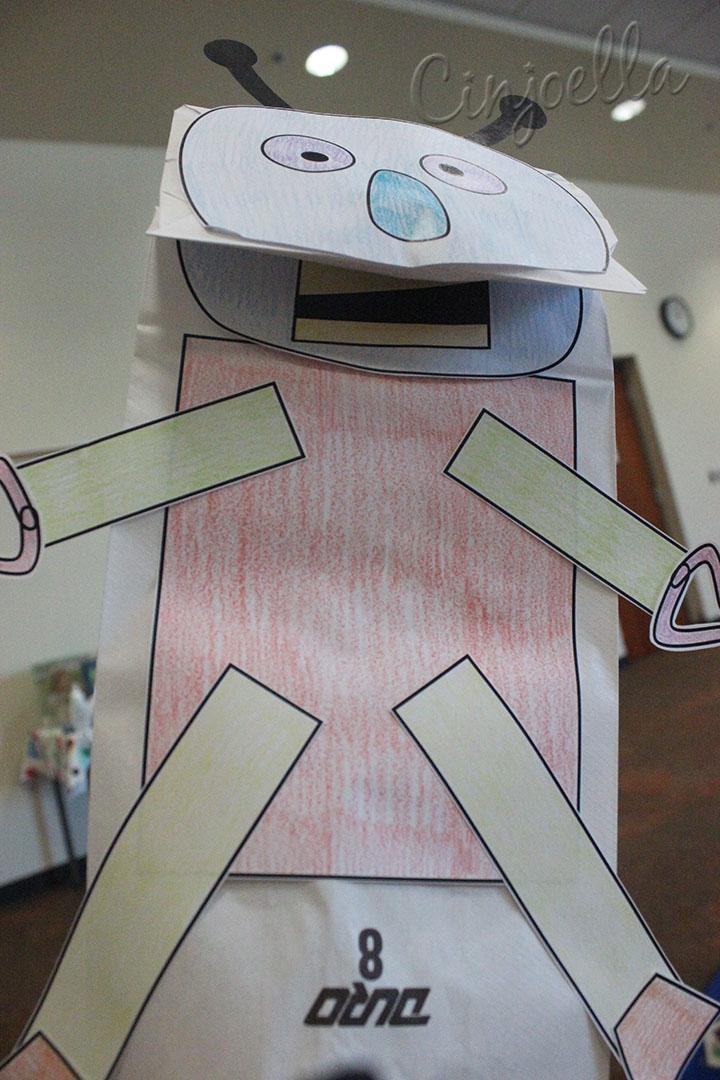 robot puppet mouth open