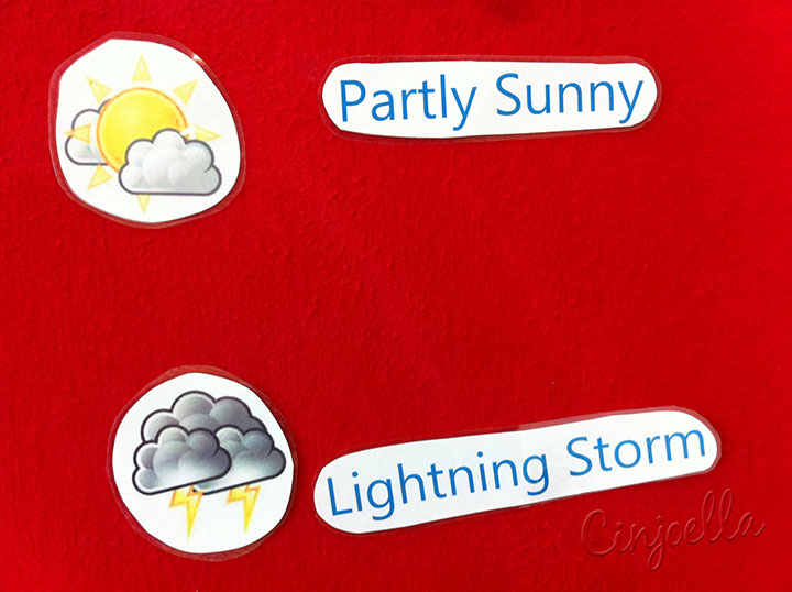 partly sunny and lightning storm