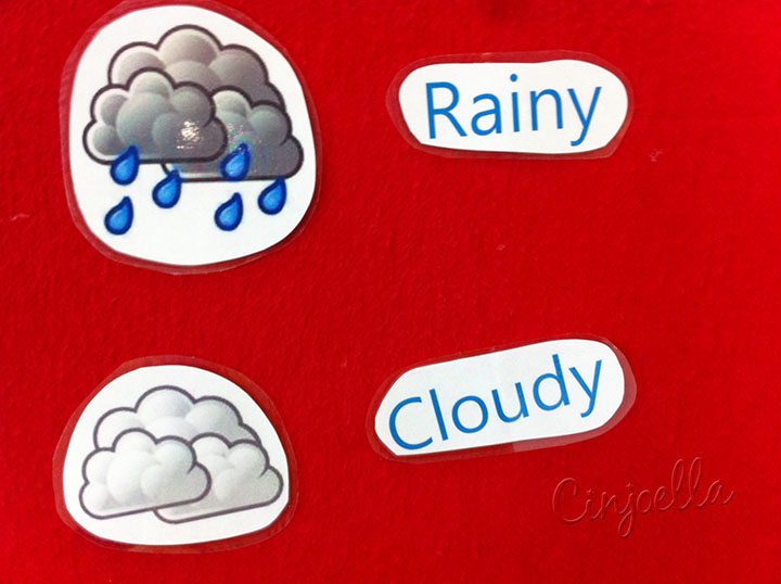 rainy and cloudy