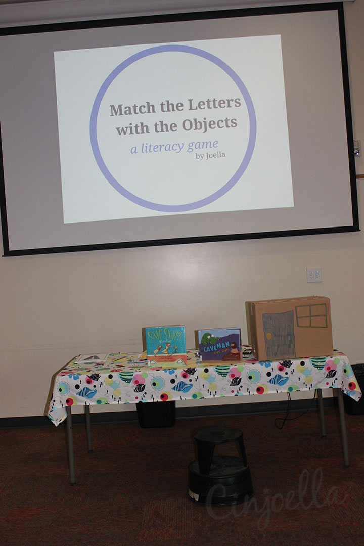match the letters with the objects literacy game