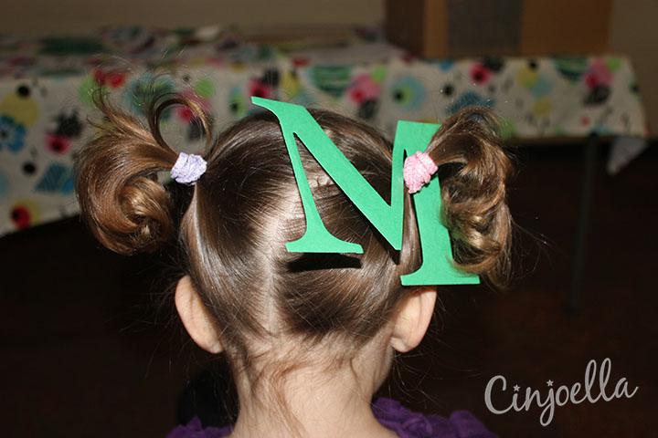 m in hair