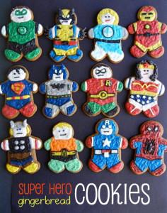 superhero gingerbread characters